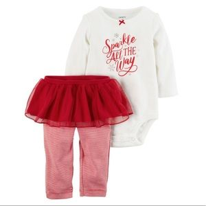 Carter's | Two Piece Christmas Holiday Set - 6M